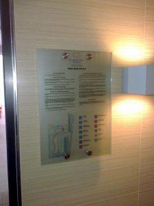 Evakuacijski načrt stenska tabla