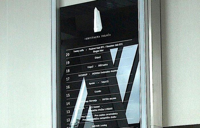 kristalna palača zunanje in notranje označevanje