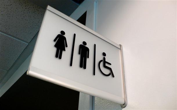 označevanje sanitarij wc