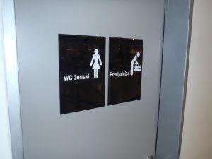 oznacevanje sanitarije previjalnica