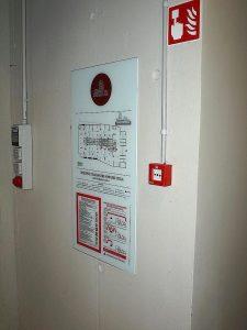Opozorilna tabla - Požarna varnost